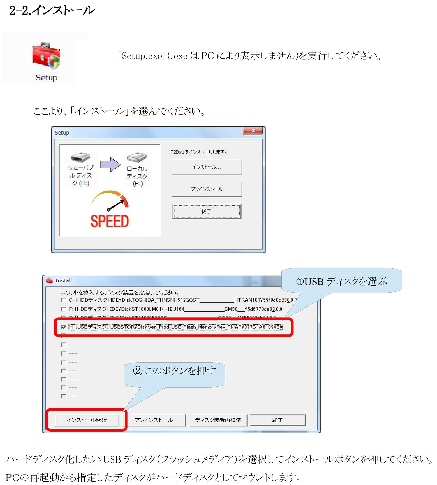 USBメモリの内蔵ハードディスク化-2