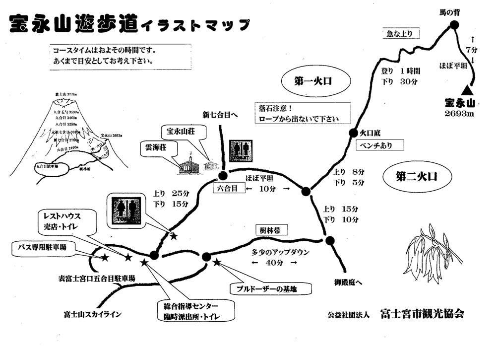 宝永遊歩道イラストマップ