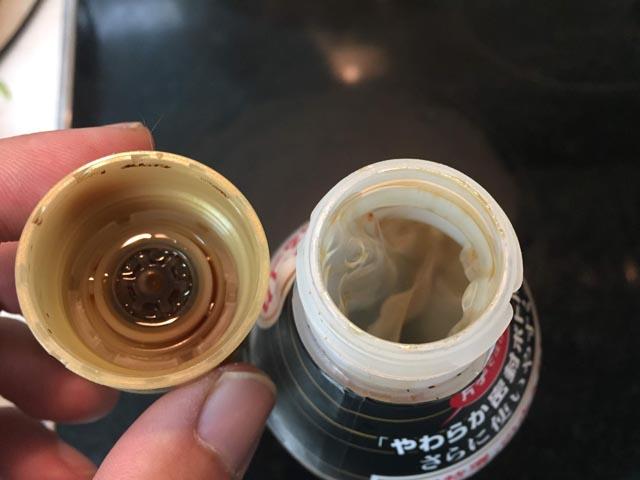 密閉ボトル式醤油の蓋を開けたところ
