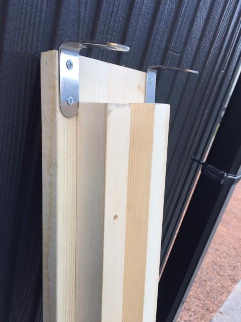木材ラダーレールの補強1
