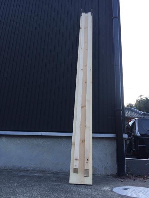 木材ラダーレールの補強2