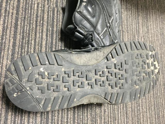 アシックスの安全靴。ソール
