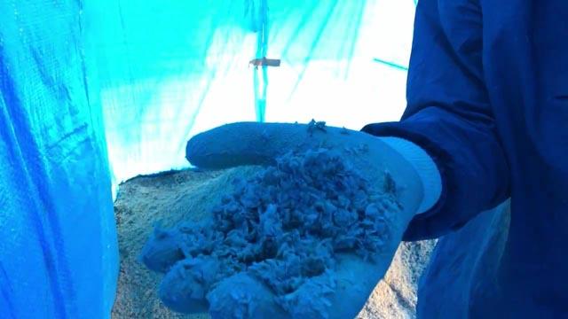 乳酸菌もみがらぼかしの材料混ぜ合わせ4