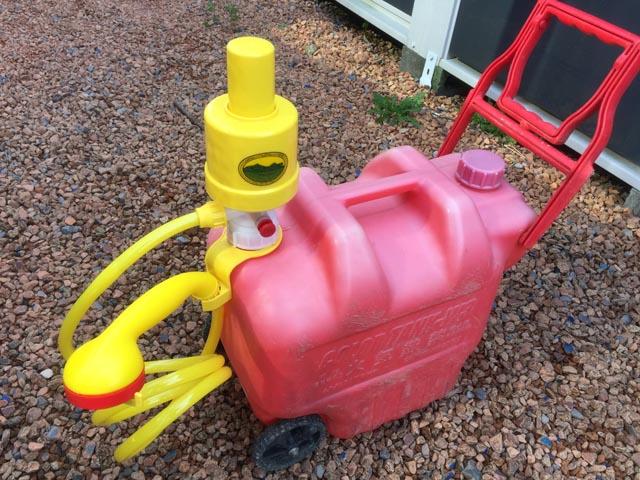 タカギのアウトドアポンプを土壌灌水で使う