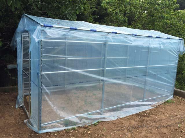 パイプ小屋の農作業小屋(完成度8割)
